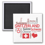 The Things I Love About Switzerland Square Magnet