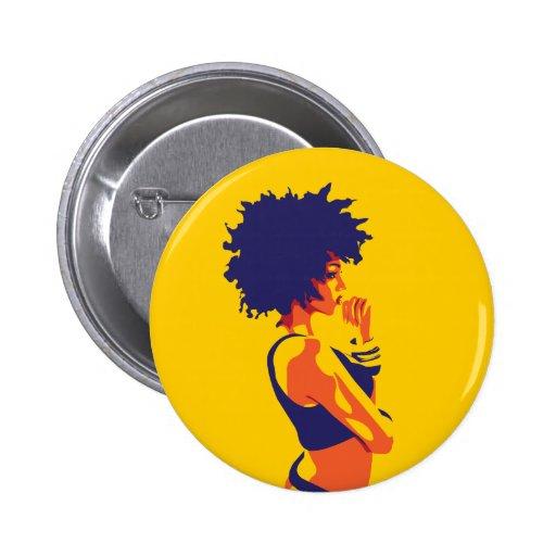 The Thinker 6 Cm Round Badge