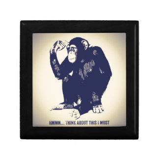 The Thinker Small Square Gift Box