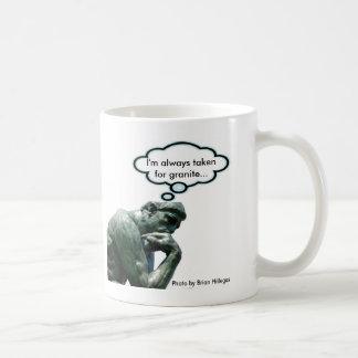 """The Thinker - """"I'm always taken for granite... Mugs"""