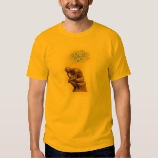 The Thinker pondering string theory Tshirts
