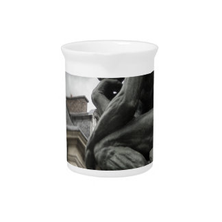 The Thinker Rodin Paris Sculpture Drink Pitcher