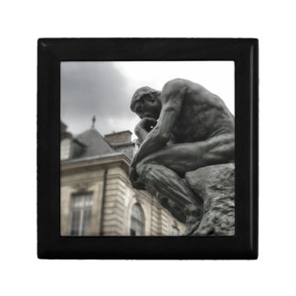 The Thinker Rodin Paris Sculpture Small Square Gift Box