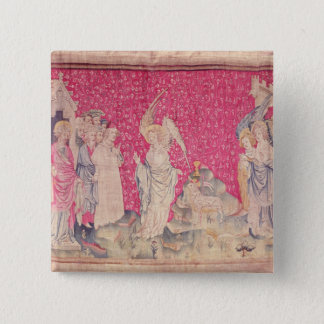 The Third Angel and the Lamb 15 Cm Square Badge