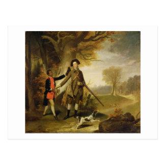 The Third Duke of Richmond (1735-1806) out Shootin Postcard
