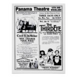 'The Third Eye' 1920 vintage movie ad poster