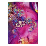 THE THIRD MASK  / VENETIAN MASQUREADE,pink purple Greeting Card