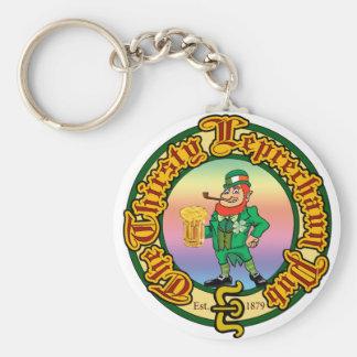 The Thirsty Leprechaun Pub Basic Round Button Key Ring