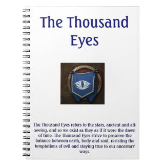 The Thousand Eyes Notepad Spiral Notebooks