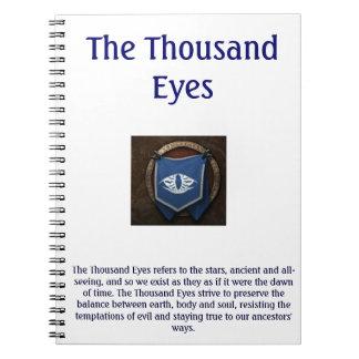 The Thousand Eyes Notepad Notebooks