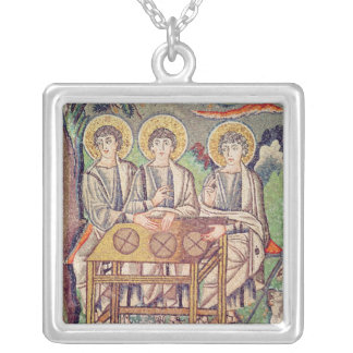 The Three Angels Silver Plated Necklace