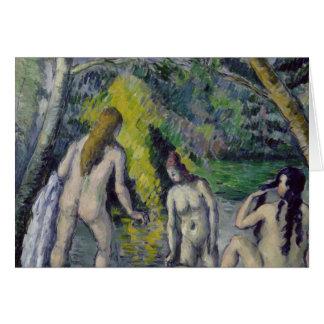 The Three Bathers, c.1879-82 Greeting Card