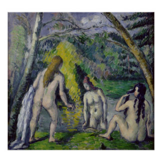 The Three Bathers, c.1879-82 Poster