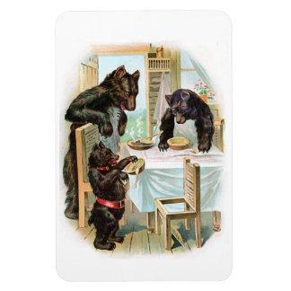 The Three Bears Rectangular Photo Magnet