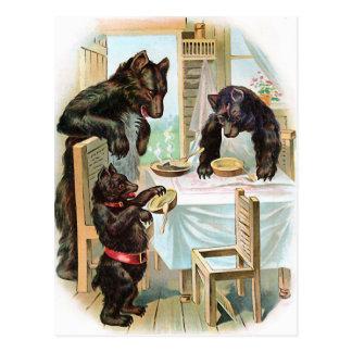 """""""The Three Bears"""" Vintage Postcards"""