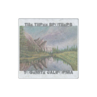 The Three Brothers Stone Magnet
