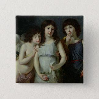 The Three Children of Monsieur Langlois 15 Cm Square Badge