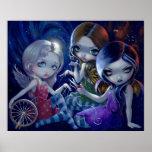 The Three Fates ART PRINT gothic fairy goddess