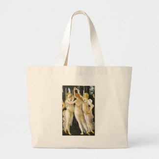 The Three Graces by Sandro Botticelli Large Tote Bag