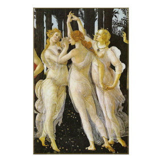 The Three Graces by Sandro Botticelli Poster