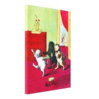 The Three Little Kittens Canvas Print