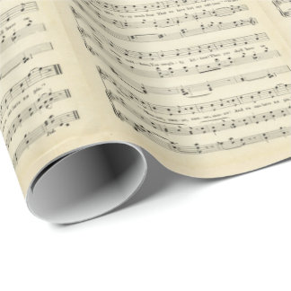 The Three Little Kittens, Sheet Music, Wrapping Paper