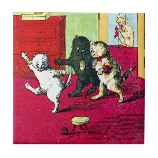 The Three Little Kittens Small Square Tile