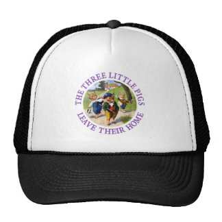 The Three Little Pigs Leave Their Home Trucker Hats