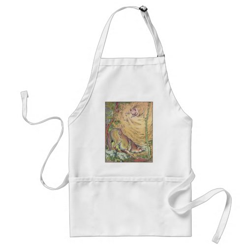 The Three Little Pigs Straw House Fairy Tale 1904 Aprons