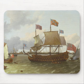 The Three-Master 'Britannia' in Rotterdam, 1698 Mouse Pad