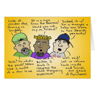 The Three Not-So-Wise Men Card