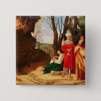 The Three Philosophers 15 Cm Square Badge