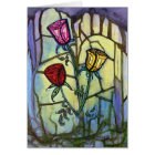 The Three Roses Blank Greeting Card