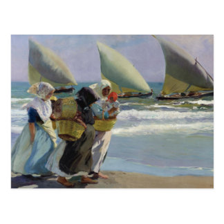 The Three Sails - Joaquin Sorolla Postcard