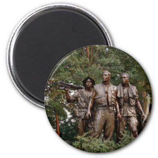 The Three Soldiers 6 Cm Round Magnet