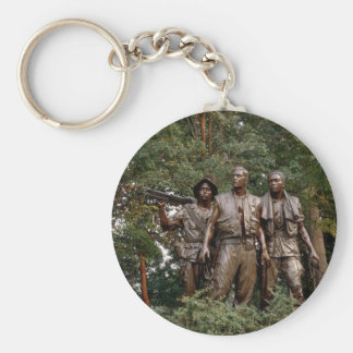 The Three Soldiers Basic Round Button Key Ring