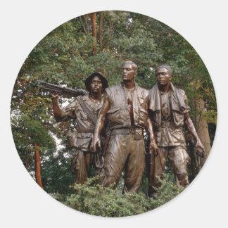 The Three Soldiers Round Sticker