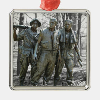 The Three Soldiers Silver-Colored Square Decoration