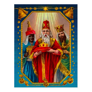 The three wise men postcard