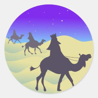 The Three Wisemen Round Sticker