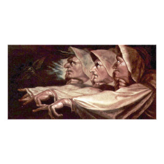 The Three Witches English - The Weird Sisters Or T Photo Card