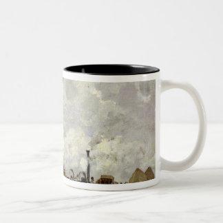 The Threshing Machine Two-Tone Coffee Mug
