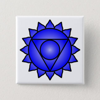 The Throat Chakra 15 Cm Square Badge