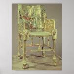 The throne of Tutankhamun  New Kingdom Poster
