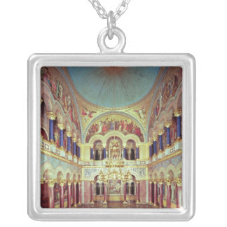 The Throne Room from the south Silver Plated Necklace
