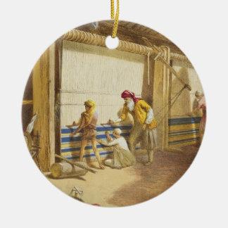 The Thug School of Industry, Jubbulpore, 1863 (chr Round Ceramic Decoration