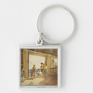 The Thug School of Industry, Jubbulpore, 1863 (chr Silver-Colored Square Key Ring