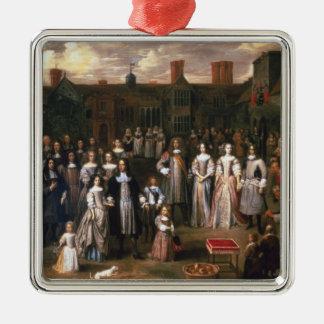 The Tichborne Dole, 1671 Silver-Colored Square Decoration