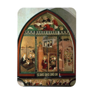 The Tiefenbronn Altarpiece (closed) 1432 (tempera Rectangular Photo Magnet