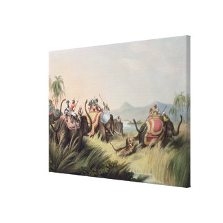 """The Tiger At Bay, from """"Oriental Field Sports"""", pu Canvas Print"""